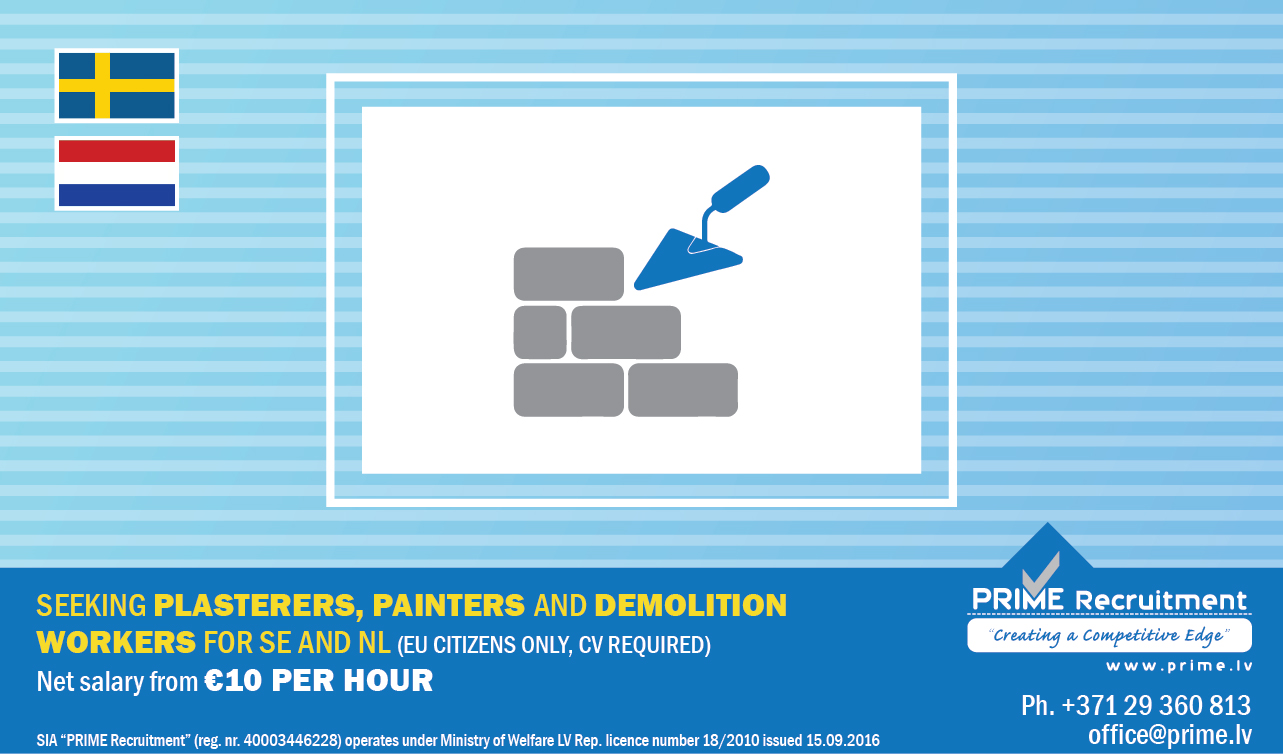 Plasterers painters demolition workers 230718 Engl version